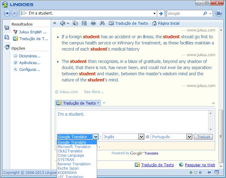 Lingoes tradutor